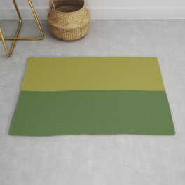 Half-and-Half in Green Rug