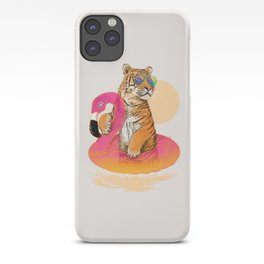 Chillin (Flamingo Tiger) iPhone Case
