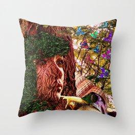 SURREAL TREE FAIRY Throw Pillow