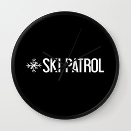 Ski Patrol: Snowflake Wall Clock