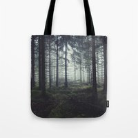 marina and the diamonds Tote Bags featuring Through The Trees by Tordis Kayma
