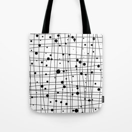 Woven Web black and white Tote Bag