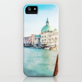 The Pier of Venice watercolor iPhone Case