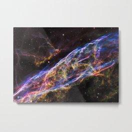 Hubble Telescope: Veil Nebula. NGC 6960 Metal Print