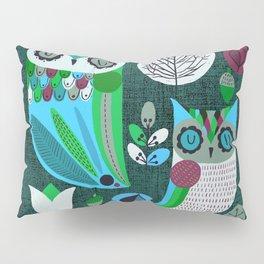 Night Owls Retro Pattern Pillow Sham