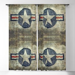 Stylized US Air force Roundel Blackout Curtain