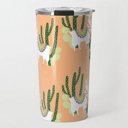 Cute Llama Pattern Travel Mug
