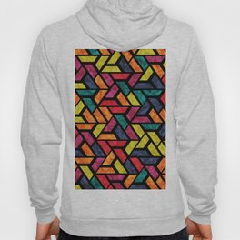 Seamless Colorful Geometric Pattern XI Hoody