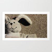 Ralphy the Rabbit   Art Print