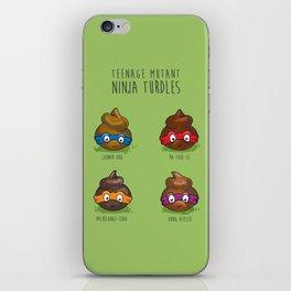 Turdles (Not in Half-Shells) iPhone Skin