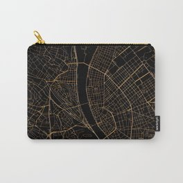 Black and gold Budapest map Carry-All Pouch