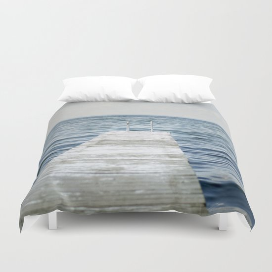 Out into the Lake Duvet Cover