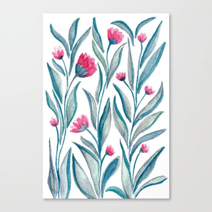 Watercolor Flowers Canvas Print
