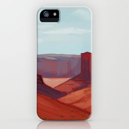 Red Landscape iPhone Case