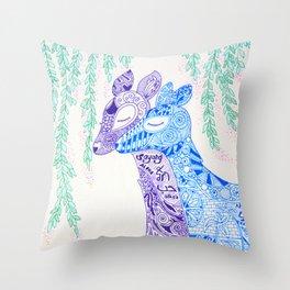 Dear Deer Love Story Throw Pillow