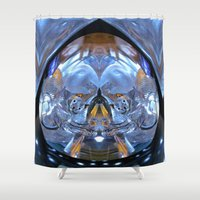 angels Shower Curtains featuring Kitty Angels by Bella Mahri-PhotoArt By Tina