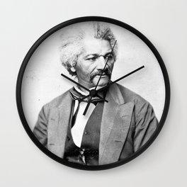 Frederick Douglass Vintage Photograph Circa 1850 Wall Clock