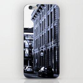 Street - Blue iPhone Skin