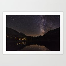 Night Glow Stars Art Print