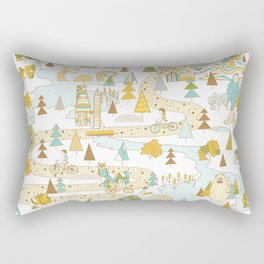 Over the River and Through the Woods Rectangular Pillow