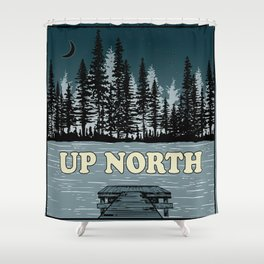 Up North at Night Shower Curtain