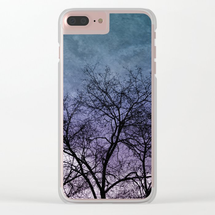 Winter dreams Clear iPhone Case