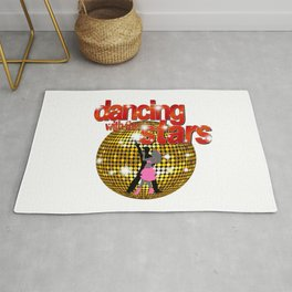 Dancing with the Stars Disco ball Dancers silhouette 2 Rug
