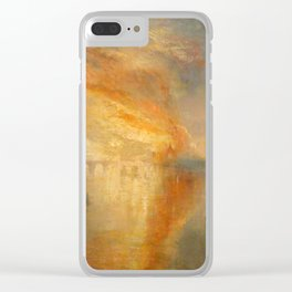 "J.M.W. Turner ""The Burning of the Houses of Lords and Commons""(1835) Clear iPhone Case"