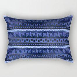 Traditional Greek Meander Pattern Rectangular Pillow