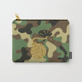 CAMO & GOLD GLITTER BOMB DIGGITY Carry-All Pouch