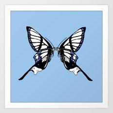 Mirror Butterfly Art Print