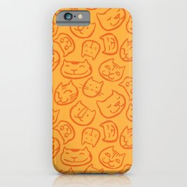 cat lady pattern iPhone Case