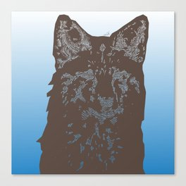 Fox Woodcut Canvas Print