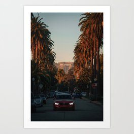 HOLLYWOOD Life, Sunset and Palm Trees Art Print