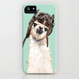 Cool Pilot Llama iPhone Case
