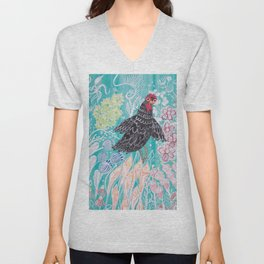 Elmer Finds a Field of Flowers Unisex V-Neck