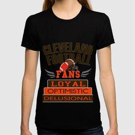 Fun Cleveland Football Loyal Fans Design T-shirt