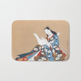 Kaigetsudō Doshin Courtesan Writing a Letter Bath Mat