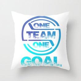 One Team One Goal bt Throw Pillow