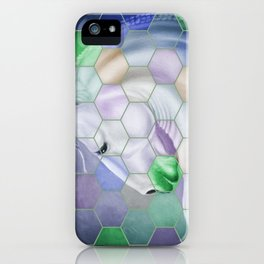 Rainbow Lusitano Mosaic Tiled Art iPhone Case