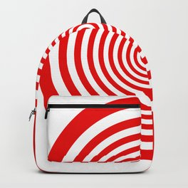 Red and White Spiral Backpack
