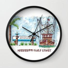 Mississippi Gulf Coast Wall Clock