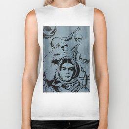 Frida Futura by MrMAHAFFEY Biker Tank