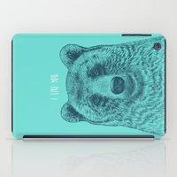 i like you iPad Cases featuring I Like You (Bear) by Rachel Caldwell