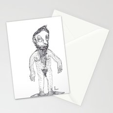Hairy Jewish Man Who Was Born With Alligator Feet Stationery Cards