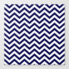Simple Chevron Pattern - Blue & White - Mix & Match with Simplicity of life Canvas Print