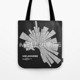 Melbourne Map Tote Bag