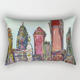 Philadelphia Skyline Rectangular Pillow
