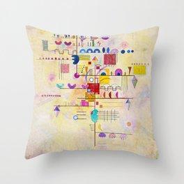 Wassily Kandinsky - Graceful ascent Throw Pillow
