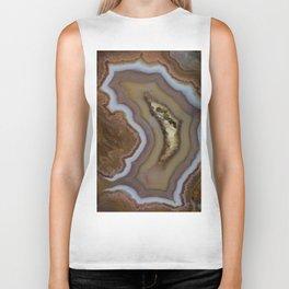 Earth Treasures - stripes of agate Biker Tank